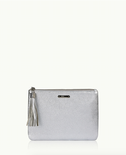 Gigi New York All In One Silver Clutch Bag Gigi New York - Jessimara
