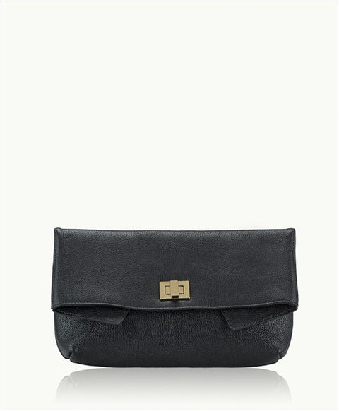 Gigi New York Claire Black Soft Goatskin Clutch - Jessimara