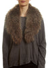 Brown Genuine Fox Fur Collar | Jessimara London