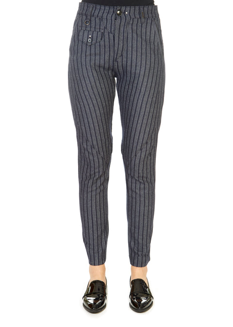 'In Motion' Grey Striped Trousers | Jessimara London