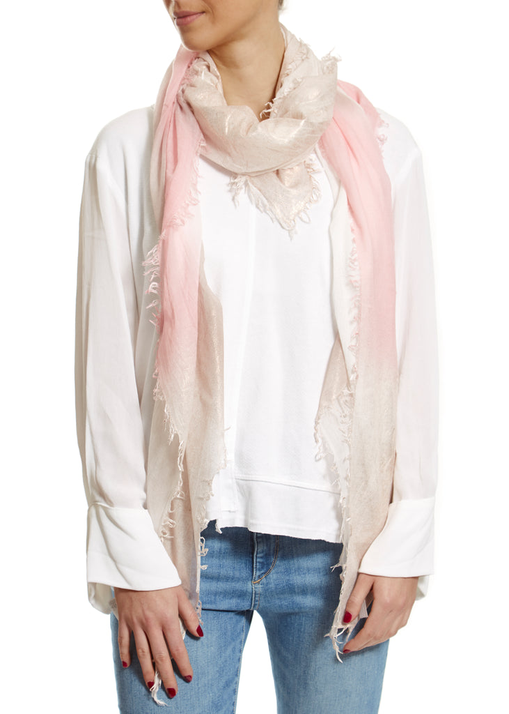 Pink 'Lovelorn' Ombre Scarf | Jessimara London