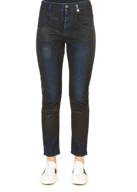 'Thrive' Black Waxed Jeans | Jessimara London