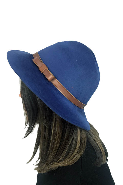 Royal Blue 'Winter Trilby Hat'