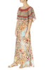 'Arizona' Frill Neck Print Maxi Dress | Jessimara London