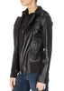 Black Motorcycle Jacket With Hood | Jessimara London