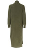 Jess Olive Wool Long Cardigan
