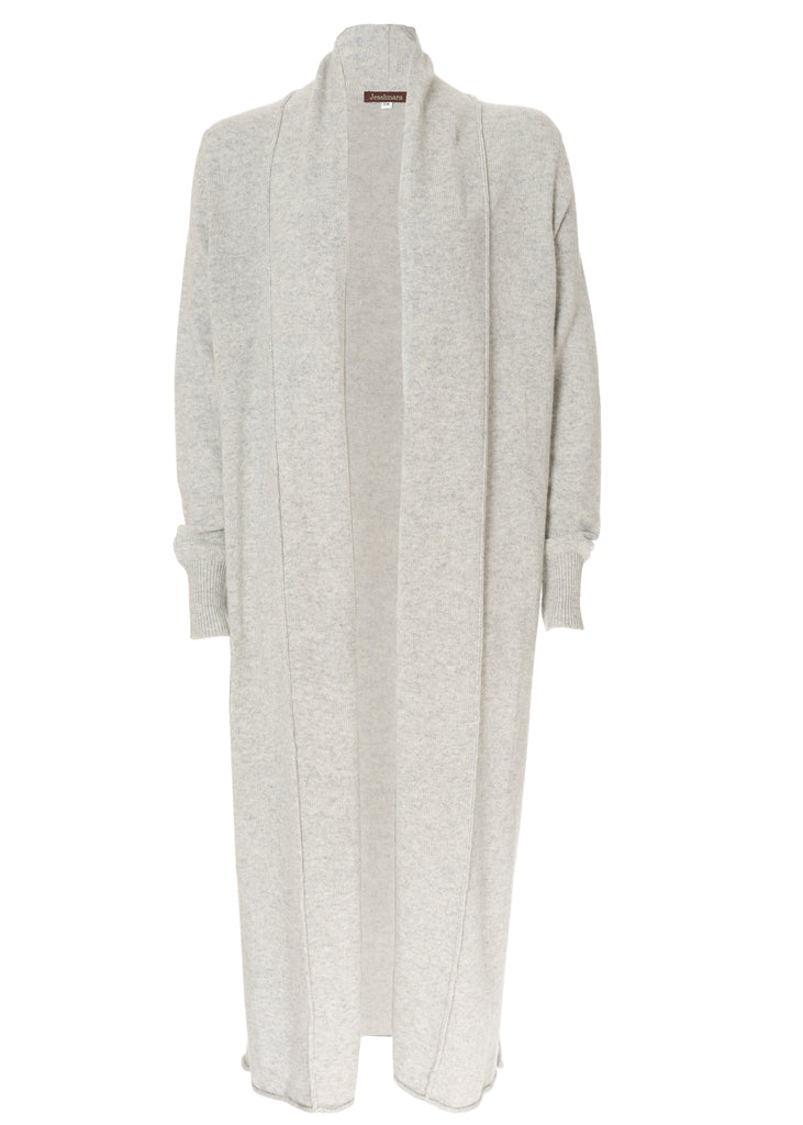 Jess Silver Grey Wool Long Cardigan