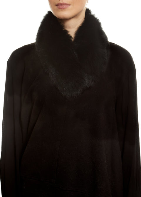 Black Fox Fur Collar