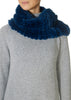 Royal Blue Knitted Rabbit Single Snood Scarf | Jessimara London