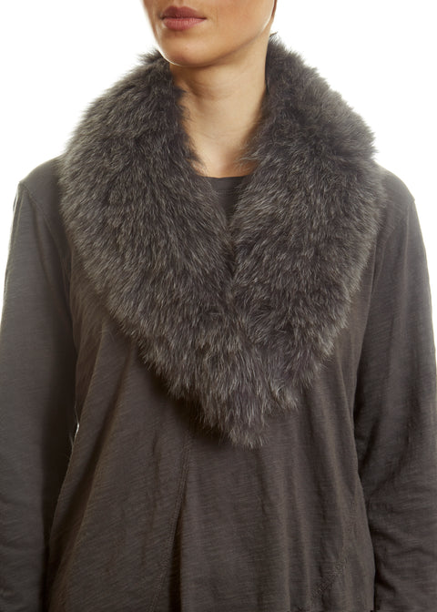 Grey Genuine Fox Fur Collar | Jessimara London
