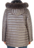 Short Grey Rex Rabbit Reversible Puffer | Jessimara London