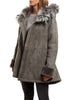 Jessimara Light Grey Sheepskin Duffle Coat JESSIMARA FUR - Jessimara