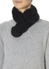 Black Magnetic Rex Rabbit Double Bobble Scarf | Jessimara London