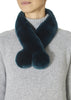 Teal Magnetic Rex Rabbit Double Bobble Scarf | Jessimara London