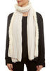 Cream Cashmere Mink Scarf | Jessimara London