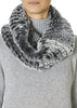 Black Snowtop Knitted Rabbit Single Snood Scarf | Jessimara London