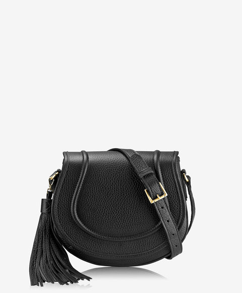 'Jenni' Black Saddle Bag | Jessimara London