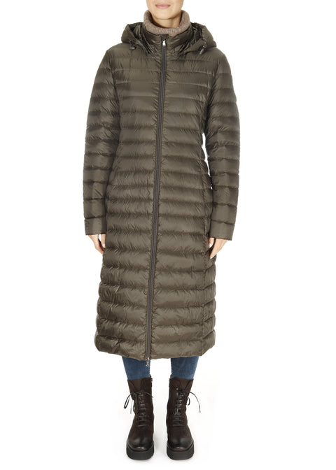 'Laurie' Lightweight Long Down Jacket