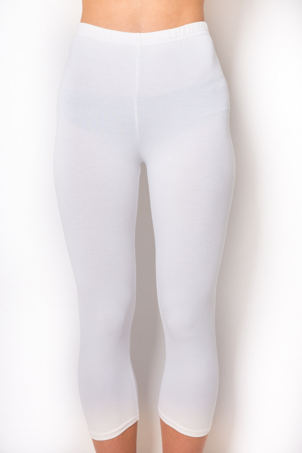 RENDEZVOUS WHITE JENNY CROPPED LEGGINGS