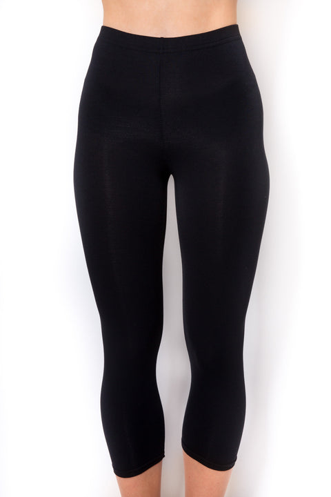Rendezvous Black Jenny Cropped Leggings | Jessimara London