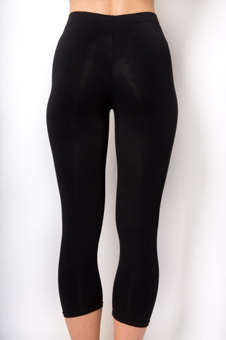 RENDEZVOUS BLACK JENNY CROPPED LEGGINGS