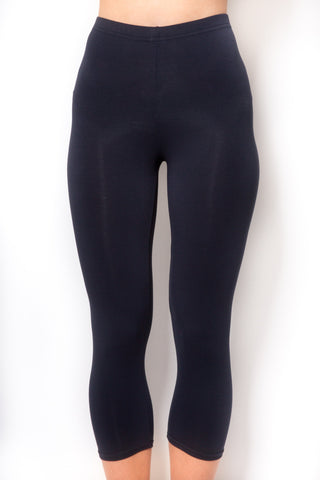 RENDEZVOUS NAVY JENNY CROPPED LEGGINGS