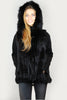 Jessimara Black Hooded Fox Fur Gilet Jessimara - Jessimara