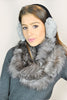 Jessimara Grey Rabbit Ear Muffs Jessimara - Jessimara