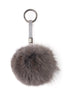 Dark Grey Fox Fur Pom Keychain | Jessimara London