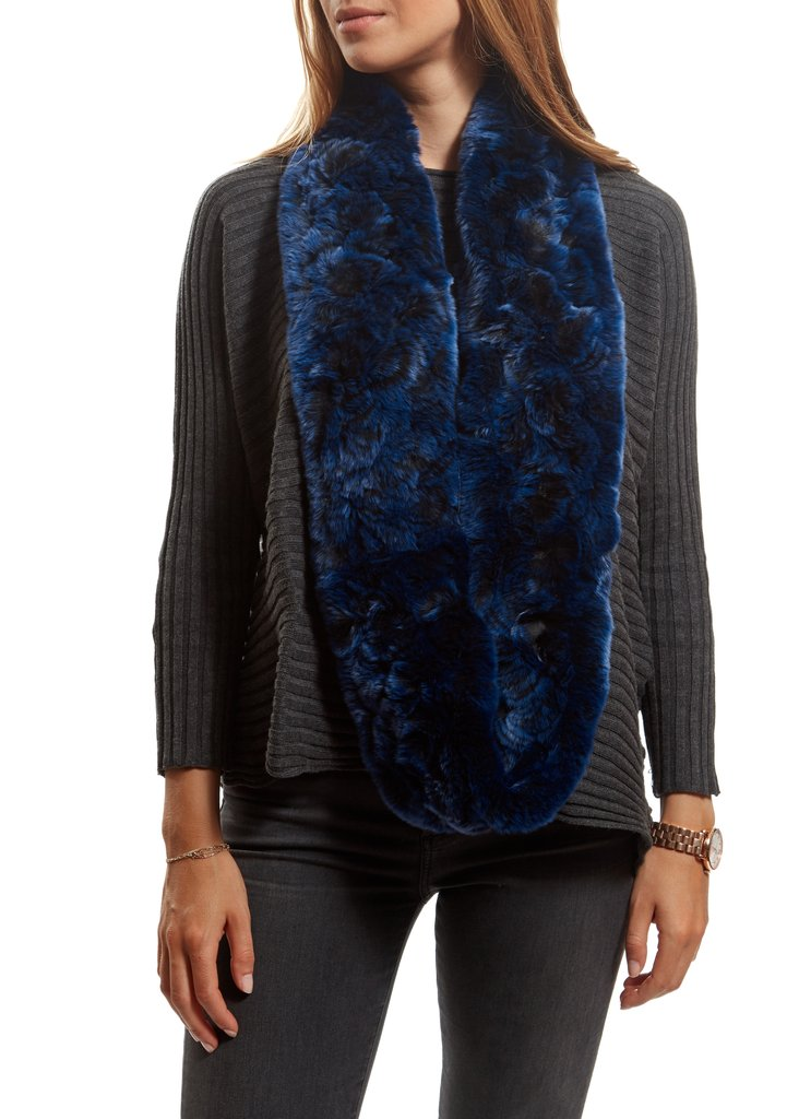 Criss Cross Double Snood With Fur Trim | Jessimara London