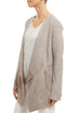 Light Grey Short Suede Jacket Jessimara - Jessimara