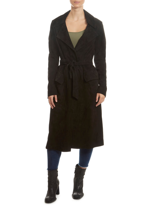 Black Long Trench Jacket