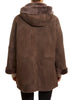 Taupe Relaxed Shape Cosy Sheepskin Parka | Jessimara London