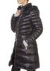 'Lara' Lightweight Down Black Coat With Removable Hood | Jessimara London