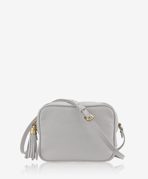 'Madison' Grey Pebble Cross Body Bag | Jessimara London