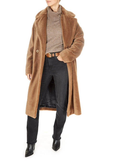 'Surface' Teddy Coat Caramel
