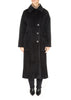 'Lunaison' Oversized Black Coat