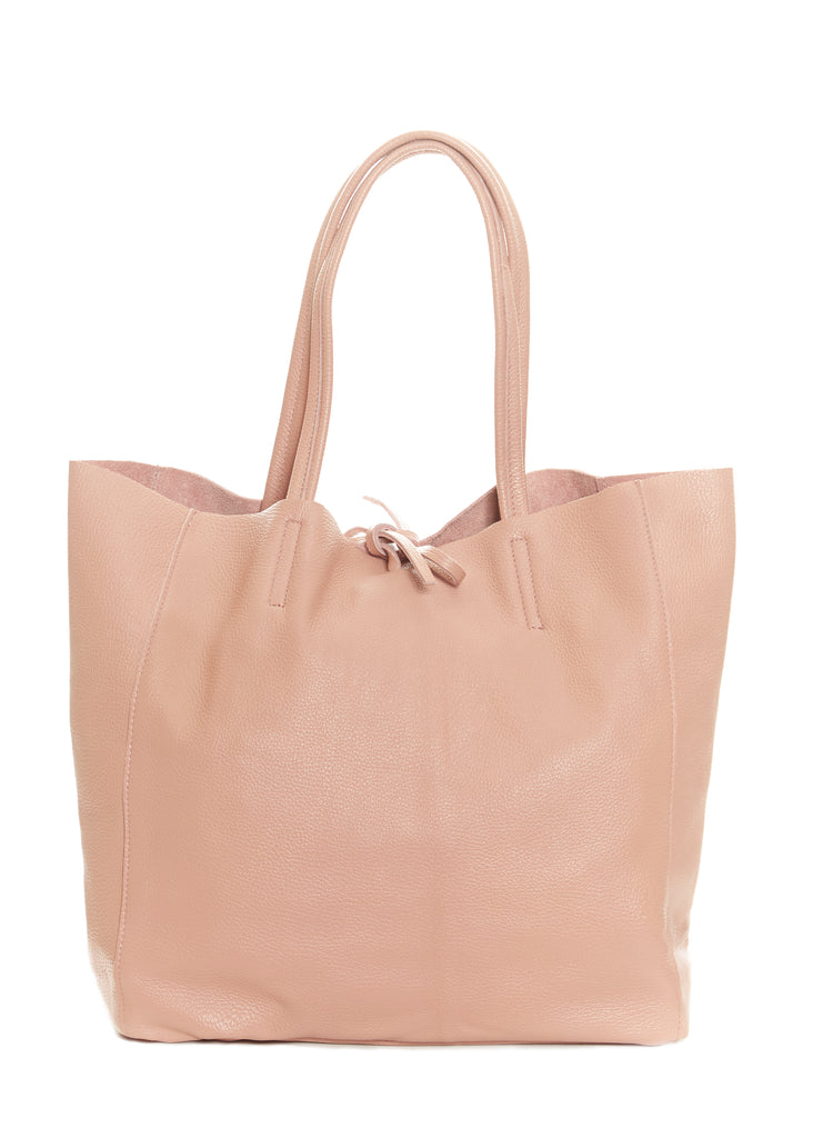 Baby Pink 'Maxi' Leather Shopper | Jessimara London