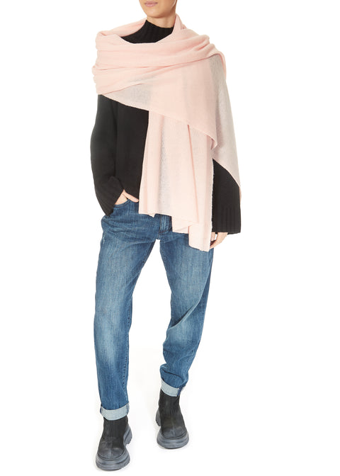 Chalk Pink Cashmere Scarf and Wrap