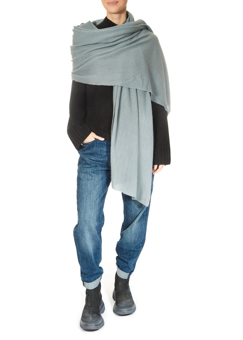 'Clay Green' Cashmere Scarf and Wrap