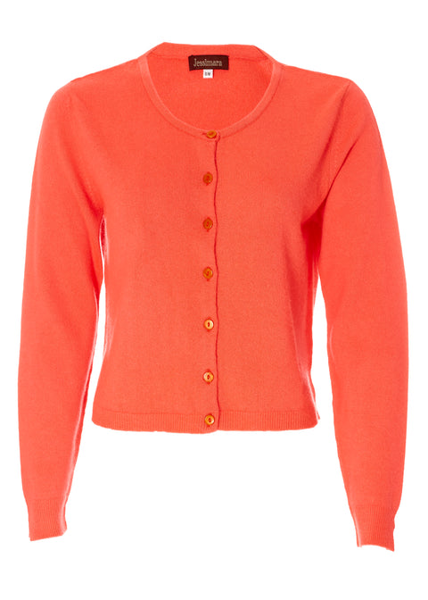 Fall Orange Ribbed Cardigan