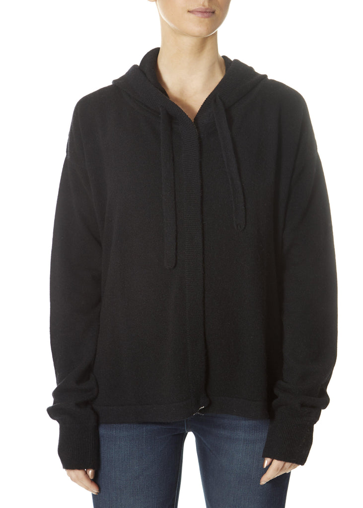 'Bernadette' Black/Light Silver Hoodie | Jessimara London