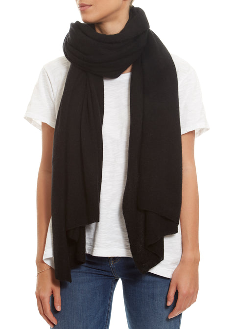 Black Cashmere Wrap | Jessimara London