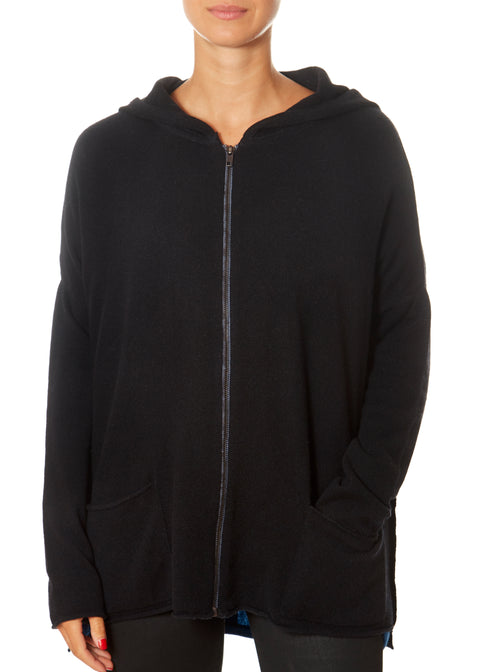Black Zipped Hoodie | Jessimara London