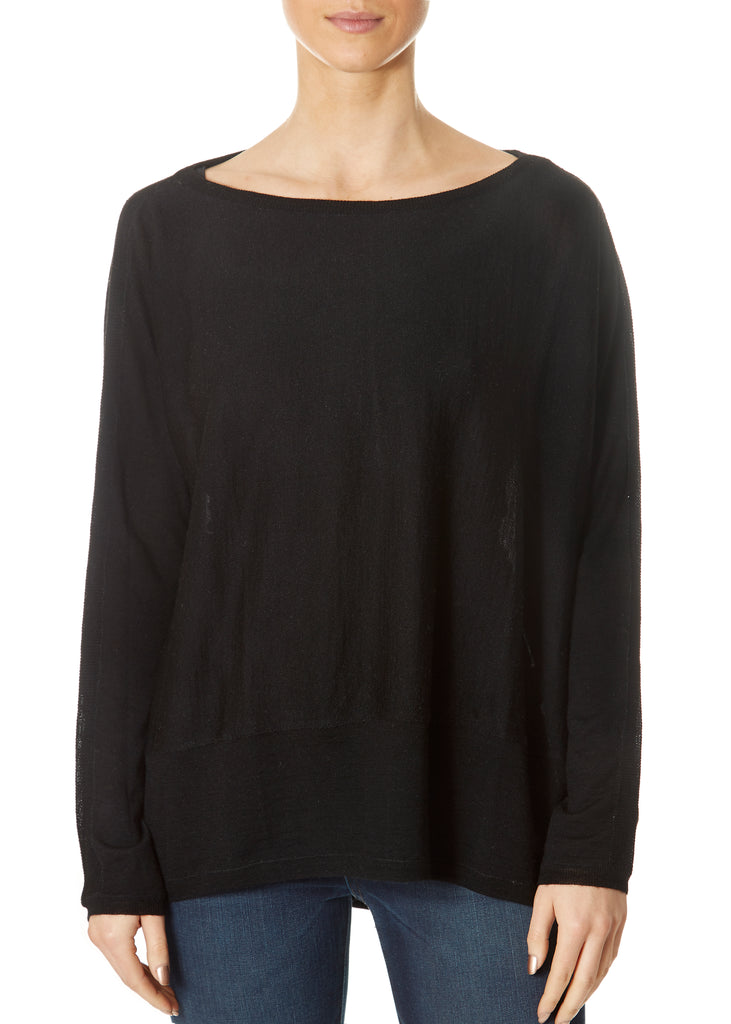 'Delta' Black Long Sleeve Top | Jessimara London