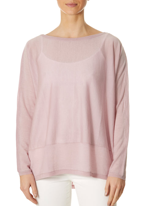 'Delta' Lavender Pink Long Sleeve Top | Jessimara London