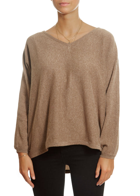 'Frieda' 2 Ply Oversized V-Neck Sweater | Jessimara London