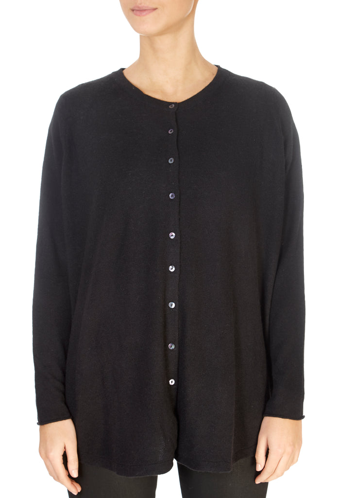'Gillingham' Black Cashmere Cardigan | Jessimara London