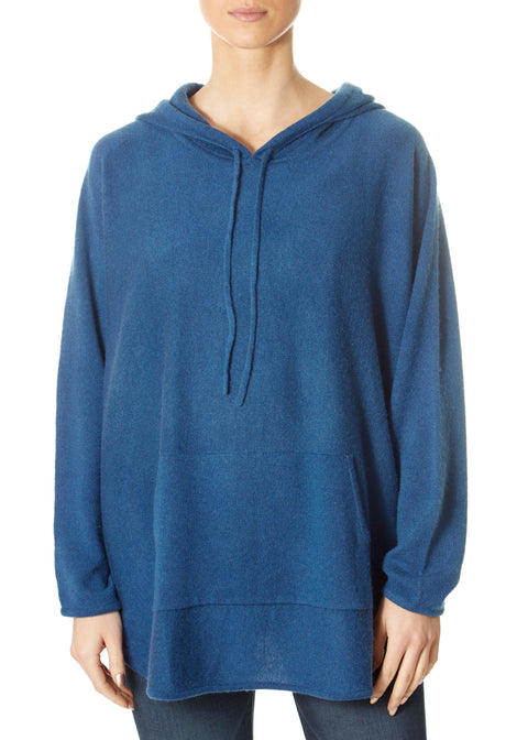 'Harper' Teal Blue Cream Hoodie | Jessimara London