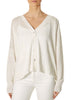 'Luna' Natural V Neck Boxy Cardigan | Jessimara London